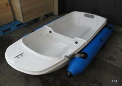 中古ディンギー・アルミ/ゴム/バス用ボート・カヌー/カヤックEX250  2分割FRPボート