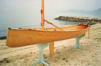 中古ディンギー・アルミ/ゴム/バス用ボート・カヌー/カヤック4.2メートル木造セーリングカヌー