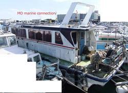 中古その他<br>(大型船・作業船・交通船等)小型船舶 19トン型 元定員47名 船体のみ FRP【MOマリンC】