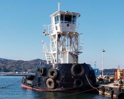中古その他<br>(大型船・作業船・交通船等)19トン押船 ヤンマー600馬力×2機 セル掛け