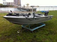 中古ディンギー・アルミ/ゴム/バス用ボート・カヌー/カヤックStessl アルミボート フルセット