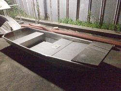 中古ディンギー・アルミ/ゴム/バス用ボート・カヌー/カヤックジョン パントボート 10フィート 免許不要 フルデッキ新品